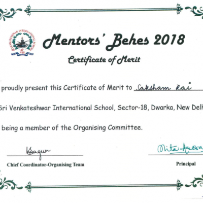 MENTOR'S BEHES 2018